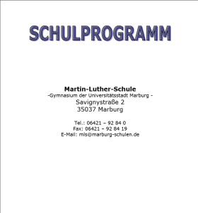 Schulprogramm-titelseite